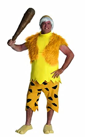 The Flintstones Adult Bamm-Bamm Costume, Orange/Brown, Standard