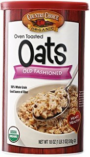 Country Choice Organic Oven Toasted Old Fashioned Oats, 18 oz Canisters, 2 pk (Oven Toasted compare prices)