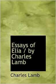 essays of elia lamb