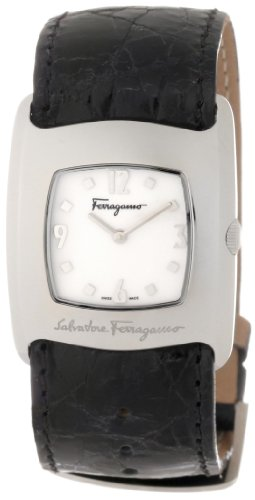 Ferragamo Women's F51SBQ9991 SC09 Vara Steel Black Crocodile Strap Watch