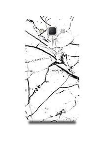 Black & White Marble Samsung A7 Case