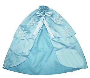 Royal Roe Little Girls' Ice Queen Cape with Snowflakes S (Age1-3): Length:54cm Light Blue