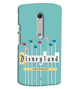 Blue Throat Disney Land Entrance Printed Designer Back Cover/ Case For Moto X Style