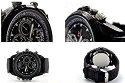 Krazzy Collection Black Spy Camera Watch with 4GB Inbuit Memory Capacity and Audio/Video Recording