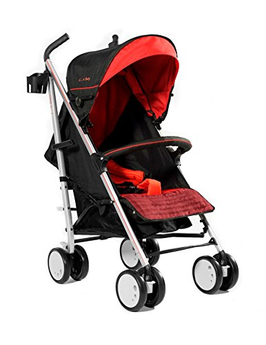 La Baby Sherman Blvd Stroller, Red/Black