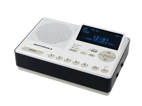 Motorola Desktop Weather-Alert Radio, With 7 Noaa Weather Channels And Specific Area Message Encoding (Same) Radio Broadcast Data System (Rbds), Early Warning System For Disasters, Provides Am & Fm Weather Radio, 2 Alarm And Snooze Settings With 10 Am/Fm