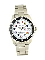 Del Mar 50289 Mens 200 Meter Sport Watch Classic Stainless Steel Nautical Dial