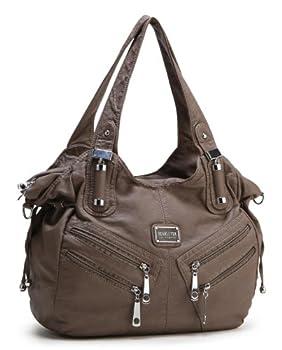 Scarleton Front Zippers Washed Shoulder Bag H1476 2