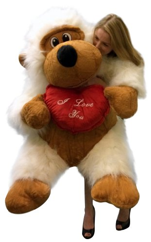 Giant Valentine Stuffed White Gorilla Holding I Love You Heart Pillow Size 51 Inches Waist Long Fur Big Plush Valentine S Day Stuffed Animal 4 Feet Tall And 3 Feet Wide And Feet to inches converter, formula and conversion table to find out how many inches in feet. google sites