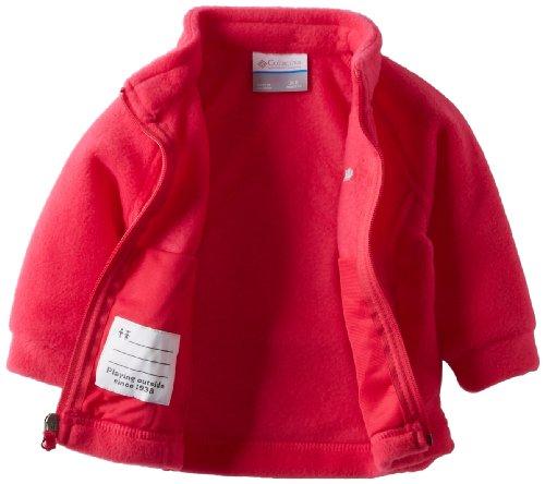 Columbia Baby Girls' Benton Springs Fleece Jacket, Bright Rose, 6-12 Months