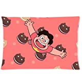 Pookeb Cookie Cat Steven Universe Cartoon Pillow Cover Design For Kids Zippered Rectangular Pillowcase Personalized Throw Pillowcases Decorative Sofa Or Bed Pillow Case Cover 20x30(2 Sides) Great Gifts For Friends Or Families