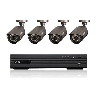 Q-See QT228-4D3-1 8CH CIF/D1 DVR 1TB HDD w/ 700TVL Weatherproof Night Vision Cameras