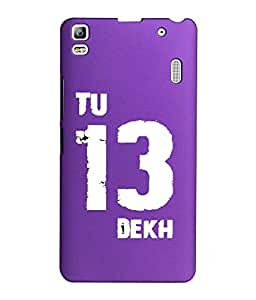 KolorEdge Back Cover For Lenovo A7000 - Purple (1400-Ke15071LenovoA7000Purple3D)