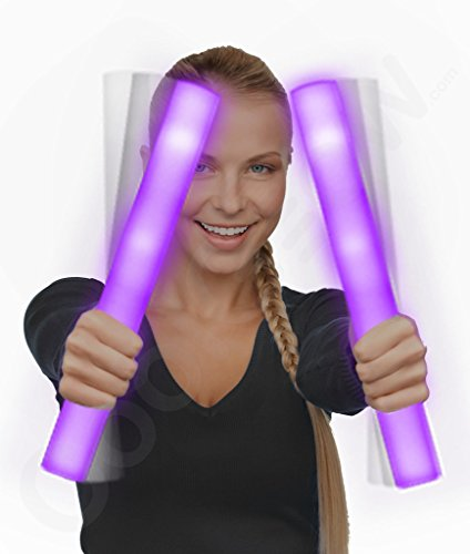 Fun Central AQ048 LED Foam Stick Baton Supreme - Purple - 12 Pack