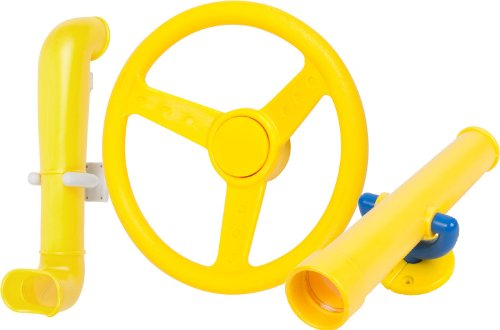 Periscope Telescope And Steering Wheel Kit (Yellow) With Sss Logo Sticker