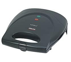 Inalsa Multimeal 750-Watt Triangular and Grill Plate Sandwich Toaster (Black)