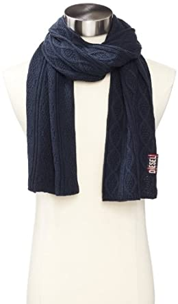 Diesel Men's K-Sdetty Scarf, Navy/Blue, One Size