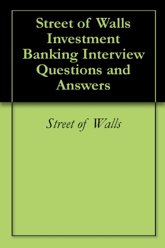 the 400 investment banking interview questions answers