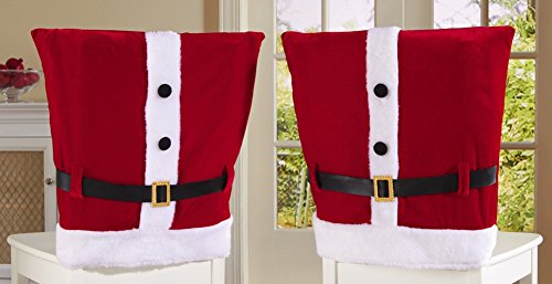 Santa Claus Hat Chair Covers Christmas Kitchen Chair Covers