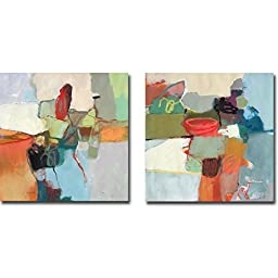 Sector One & Sector Two by David Bailey 2-pc Premium Oversize Gallery Wrapped Canvas Giclee Art Set (Ready to Hang)