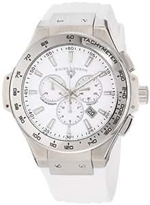 Swiss Legend Men's 40051-02-R Maverick Chronograph White Dial White Silicone Watch