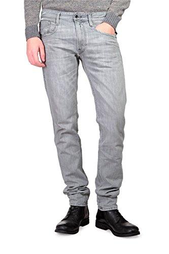 Replay Laserblast Jeans Stretti ANBASS, uomo, Colore: Grigio, Taglia: 31/34