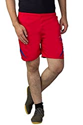 Greenwich United Polo Club Men's Polyester Shorts (GUPC19_Red_Large)