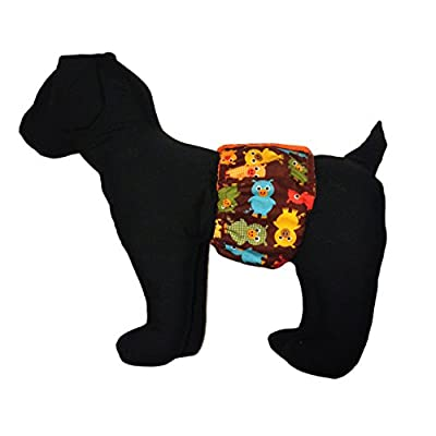 Barkerwear Male Dog Diaper - Happy Pigs Washable Belly Band Male Wrap for Housebreaking, Male Marking and Incontinence