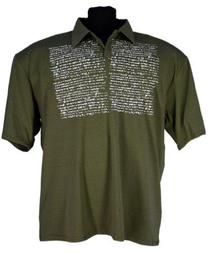Mens Kingsize Casual Polo Shirt in khaki by Lavecchia: 5XL