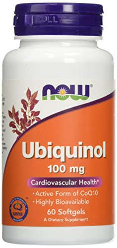 Now Foods Ubiquinol 100mg, Soft-gels, 60-Count