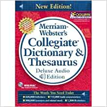 merriam webster collegiate dictionary 11th edition amazon