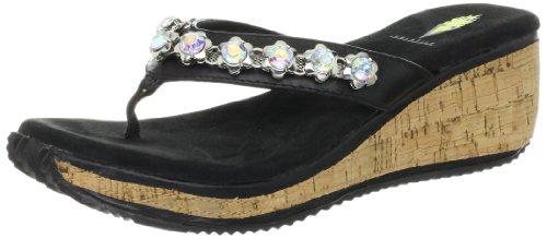 Volatile Women'S Pose Wedge Sandal,Black,10 B Us front-1055191