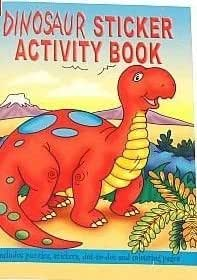 8 X A6 DINOSAUR STICKER BOOKS - PARTY BAG FILLERS