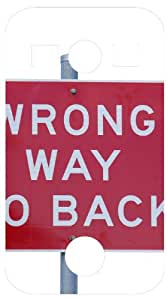 Wrong Way Go Back Sign White Back Cover Case for Samsung Galaxy Xcover 2 S7110