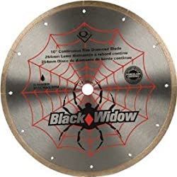 "Qep Black Widow 10"" Continuous Rim Diamond Blade"