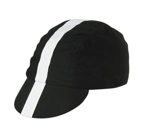 Pace Classic Cycling Cap (Black with White)