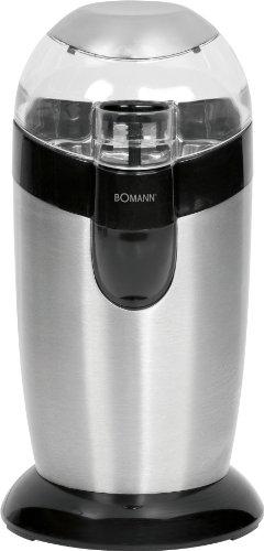 Bomann KSW 445 CB - Molinillo de café eléctrico, acero inoxidable, 120 W, color gris y negro