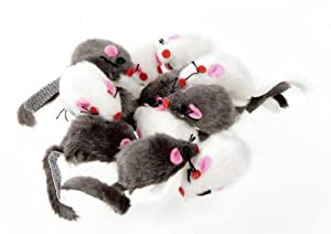 MOZZARELLA Plush Mice - 12pk