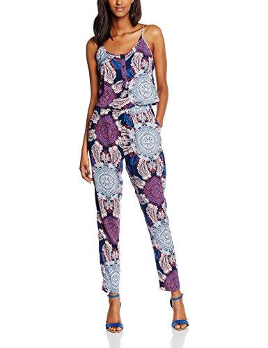 VERO MODA Vmsuper Easy 3 String Jumpsuit, Tuta Donna, Blau (Twilight Blue Aop:Helle Print-Twilight Blue), W36