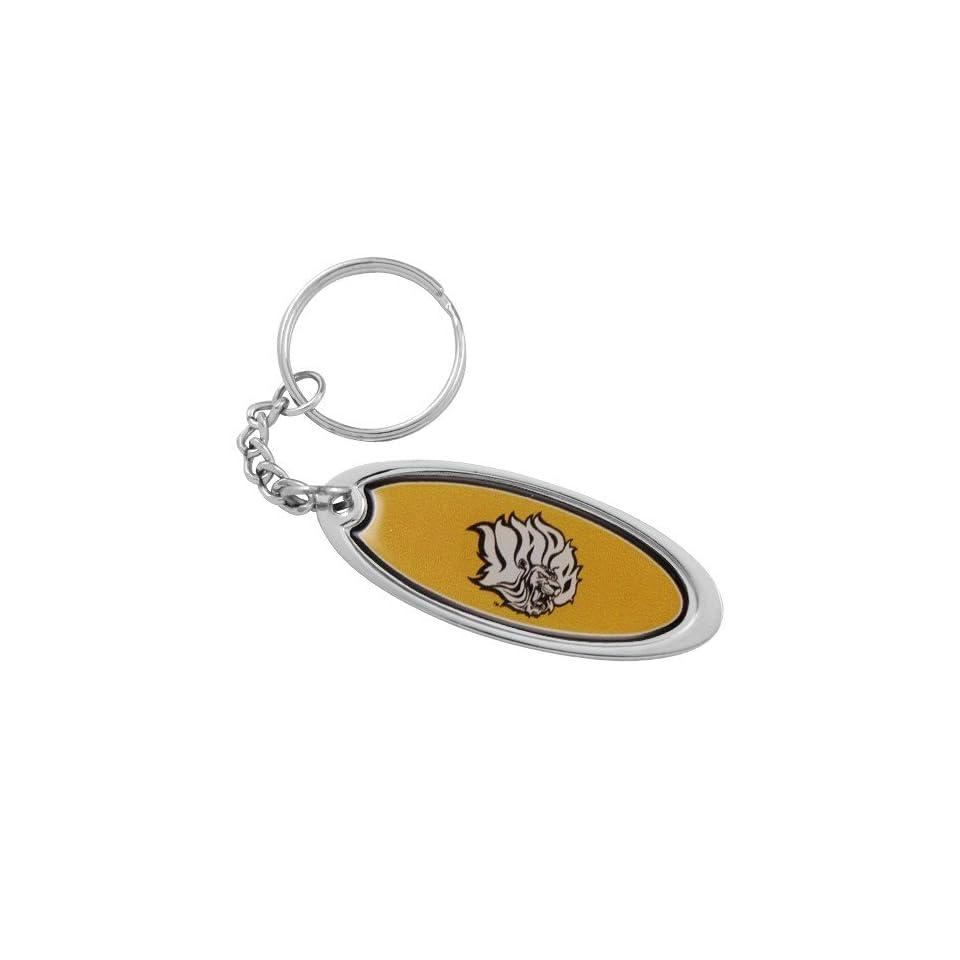 NCAA Arkansas Pine Bluff Golden Lions Domed Oval Keychain