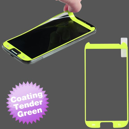 Cell Accessories For Less (Tm) Samsung Galaxy S 4 (I337/L720/M919/I545/R970/I9505/I9500) Coating Screen Protector/Tender Green + Bundle (Stylus & Micro Cleaning Cloth) - By Thetargetbuys
