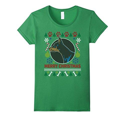 Women's Doberman Pinscher Dog Breed Owners Ugly Christmas T-shirt