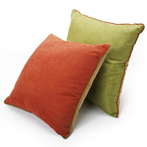 DOZZZ Corduroy Contrast Holiday Decorative Pillow Cushion Accent Pillow with Insert Couch Throw ...