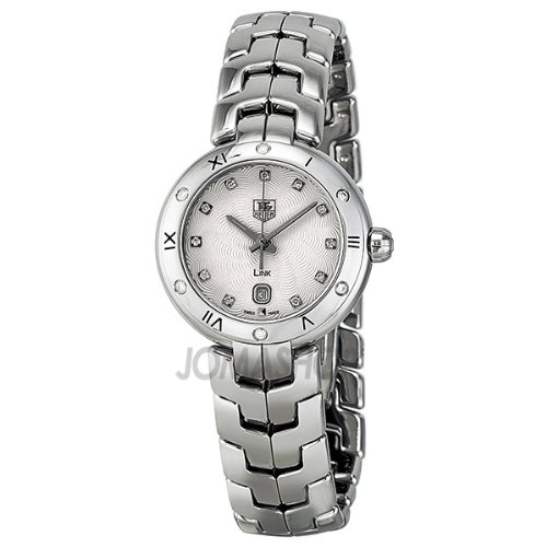 Tag Heuer Link Diamond Silver Guilloche Dial Stainless Steel Ladies Watch WAT1413.BA0954