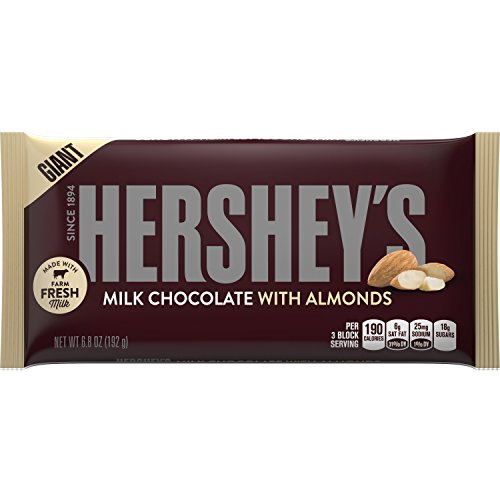 HERSHEY'S Giant Milk Chocolate Bar with Almonds (6.8-Ounce Bar, Pack of 12) (Giant Hersheys Chocolate Bar compare prices)