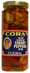 Cora - SO HOT Sliced Cherry Peppers, (2)- 12 oz. Jars