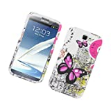 For Samsung GALAXY Note 2 II N7100 L900 I605 I317 T889 Case Two Pink Butterflies