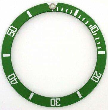 ロレックス サブマリーナ ベゼル用 目盛盤 社外品 ROLEX 16610 グリーン