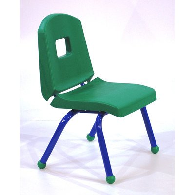 """Creative Colors 10Chrb-Dg-Bl Split-Bucket Chair, Ball Glides, 10"""" Height, Dustin Green Seat And Back, Blue Frame front-1049266"""