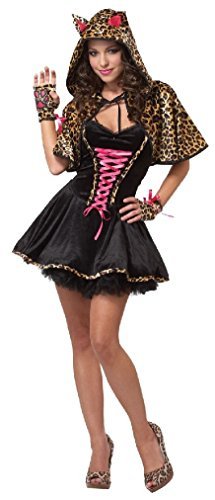 Fancy Hello Kitty Cats Meow Teen Costume (Little Red Riding Hood Halloween Costume Teenager)